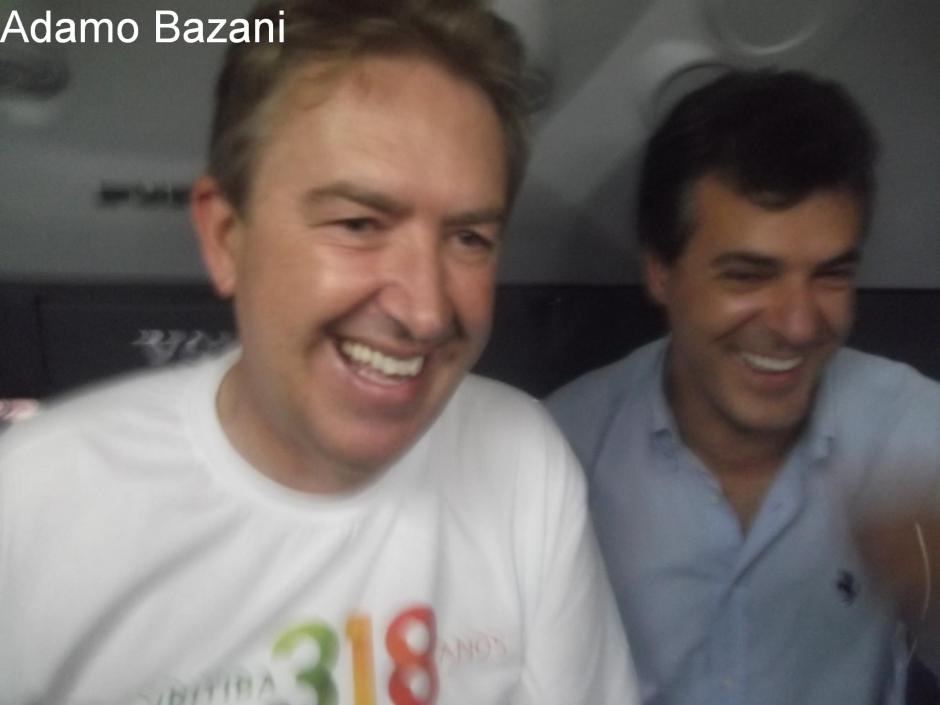 Luciano Ducci e Beto Richa juntos