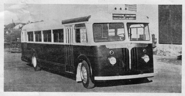 ônibus da Fábrica Nacional de Vagões