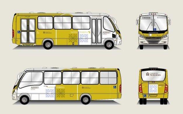 ônibus e bonde de Santa Teresa