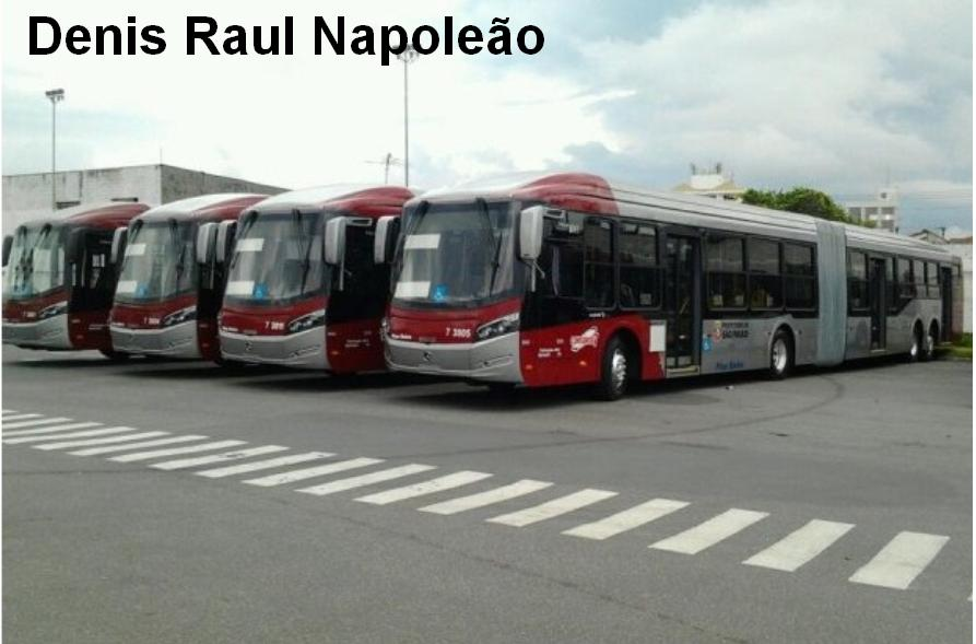 Novos ônibus articulados são maiores e têm capacidade ampliada de ...