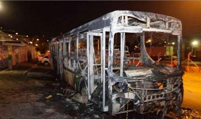 ônibus queimaidos