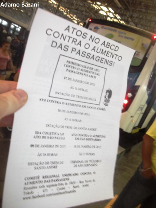 protesto tarifa de ônibus