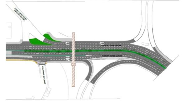 Ilustração do trecho 3 do Corredor Cidade Jardim. Fonte SPTrans