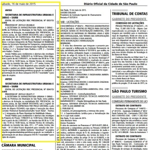 Aviso de licitação foi publicado no Diário Oficial. Com mudança, prefeitura quer agilizar escolha de empresas que vão construir os corredores de ônibus