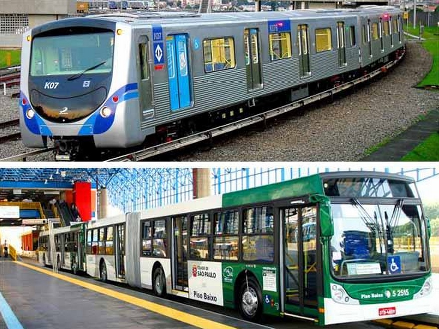 ônibus e metrô