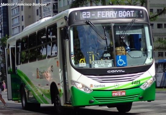 faixa de ônibus Santos