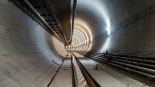 Obras da Linha 5-Lilás. Túnel escavado em direção a Santa Cruz | Foto: Renato Lobo