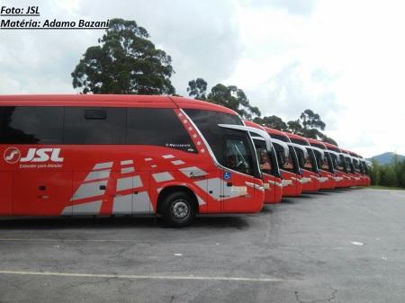 Ônibus da JSL que deve registrar crescimento por causa de turismo religioso