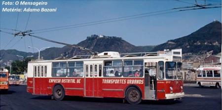 Trólebus circularam por cerca de 50 anos em Bogotá