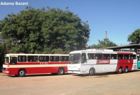 Dois ícones dos transportes, monoblocos  reuniram muita história e foram palco de encontro agradável