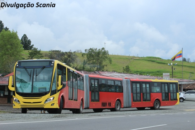 Biarticulado da Scania foio um dos destaques: sustentabilidade e alta capacidade