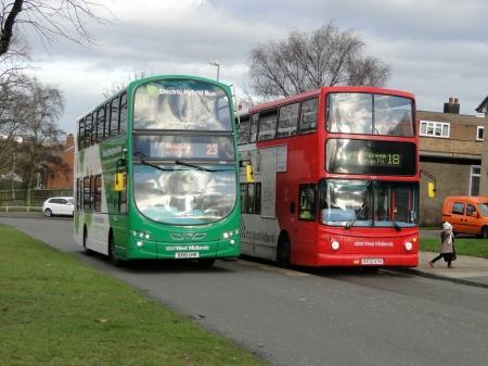 Serviço de ônibus da National Express em West Midlands